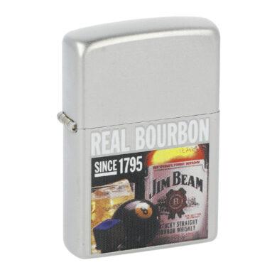 Zapalovač Zippo Jim Beam Real Bourbon, satin(Z 138)