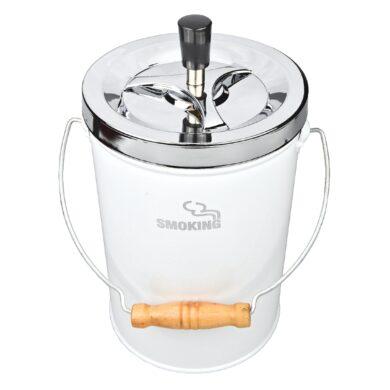 Cigaretový popelník kovový otočný Smoking XXL, bílý(22071)