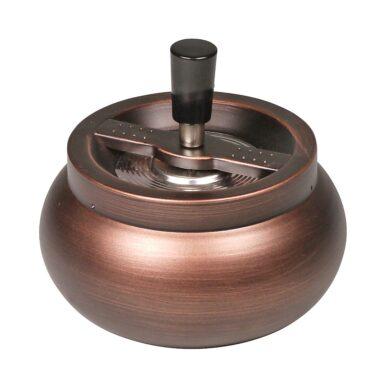 Cigaretový popelník otočný Copper kovový, 13cm(502576)