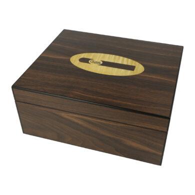 Humidor na doutníky Cigar logo ořech(29105)