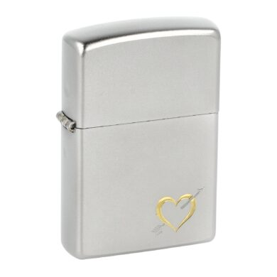 Zapalovač Zippo Heart and Arrow design, satin(Z 254711)