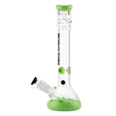 Skleněný bong Grace Glass Pearl Series Green 40cm(G7UG)
