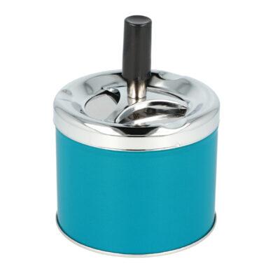 Cigaretový popelník kovový otočný 9cm, blue(400625)