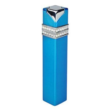 Dámský zapalovač Hadson Square, modrý, bílé kamínky Swarovski(10211)