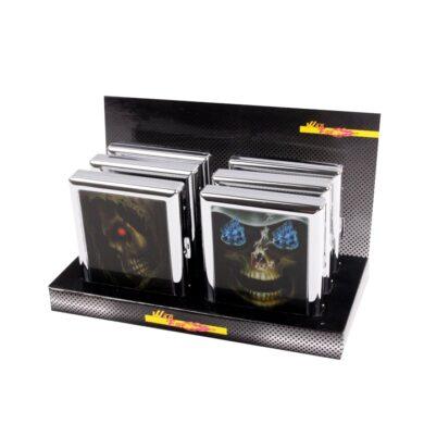 Cigaretové pouzdro Skull, 18cig.(06423)