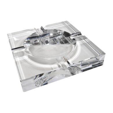 Doutníkový popelník křišťálový, čtvercový(424250)
