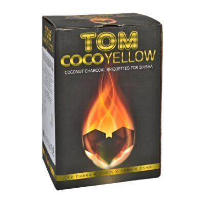 Uhlíky do vodní dýmky Tom Cococha Yellow, kokosové, dlouhohořící, 1kg(38004Y)