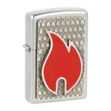 Zippo zapalovač Flames, satin(Z 961)