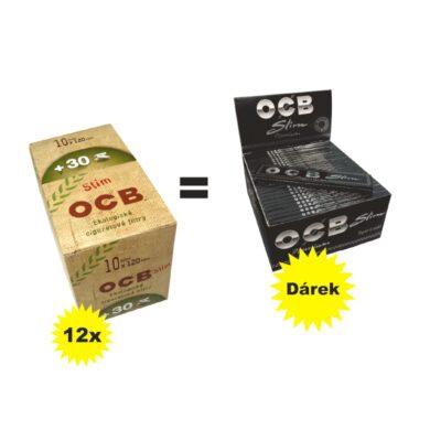 Cigaretové filtry OCB BIO + OCB Slim Premium ZDARMA(04301Z)