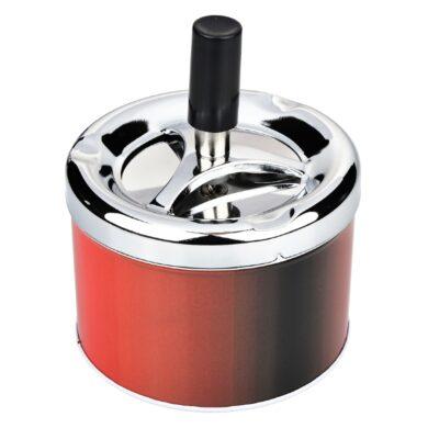 Cigaretový popelník otočný Angelo červený, kovový(400606)