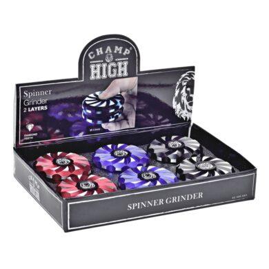 Drtič tabáku kovový Champ High Spinner, 63mm, 6mix(506083)