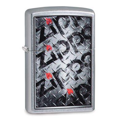 Zapalovač Zippo Metal Logo, satin(Z 158181)