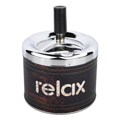 Cigaretový popelník otočný Angelo Relax black, kovový(400614)