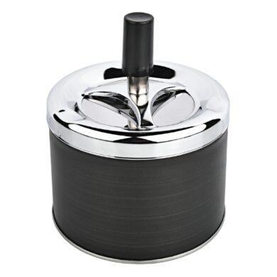 Cigaretový popelník otočný Angelo Dark grey, kovový(400616)