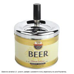 Cigaretový popelník otočný Angelo Beer, kovový(405004)