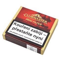 Doutníky Clubmaster Mini Red Filter, 20ks-Doutníky Clubmaster Mini Filter Red No.222 s vanilkovou příchutí. Cigarillos jsou balené po 20 doutníčkách v kartonové krabičce. Délka 70mm, průměr 7mm. Balení: 5 ks krabiček.