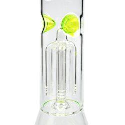 Skleněný bong s perkolací Amsterdam zelený Ice 41cm(MG03G)