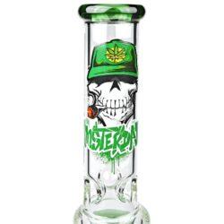 Skleněný bong s perkolací Amsterdam Skull Ice green 35cm(G166G)