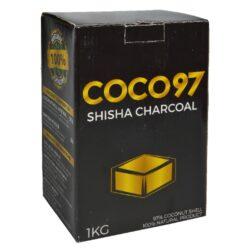 Uhlíky do vodní dýmky DUD Coco 97, kokosové, 1kg-Přírodní kokosové uhlíky do vodní dýmky nebo na grilování. Uhlíky jsou vyrobeny z kokosových skořápek 97% a tapiokového prášku 3%. Kokosové uhlíky do vodní dýmky jsou bez obtěžujícího zápachu a kouře. Tím neovlivňují chuť tabáku. Doba žhnutí uhlíků je více jak 1 hodinu.  Pro rozpálení uhlíků doporučujeme používat elektrický žhavič na uhlíky. Balení 1 kg (64ks).