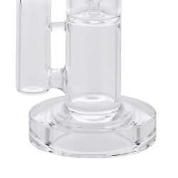 Skleněný bong s perkolací Grace Glass Crystal Series Straight Ice LED 42cm(G163)