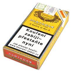 Doutníky Partagas Serie D No.4, 3ks-Kubánské doutníky Partagas Serie D No.4. Jedny z nejlepších kubánských doutníku na světě a nejprodávanější ve velikosti Robusto. Doutníky Partagas Serie D No.4 mají vynikající chuť po zemině, čokoládě, cedru a kůže současně s jemnými tóny chutného citrónu. Kubánské doutníky Partagas jsou vyráběné z kvalitních tabákových listů, které zaručují výbornou chuť a kvalitu těchto doutníků. Doba hoření je cca 50-70 minut. Doutníky jsou balené po 3 ks v kartonové krabičce a prodávají se pouze po celém balení.  Délka: 124 mm Průměr: 19,8 mm Velikost prstýnku: 50 Tvar/velikost doutníku: Robusto Typ doutníku dle skladování: doutník vlhký  Původ doutníku: Kuba Krycí list: Kuba natural Vázací list: Kuba natural Náplň: Kuba natural Síla tabáku: full