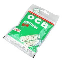 Cigaretové filtry OCB Slim Menthol-Cigaretové filtry OCB Slim Menthol. Cigaretové filtry s mentolovou příchutí. Průměr filtru 6 mm, délka 15 mm. Sáček obsahuje 150 ks filtrů. Cena je uvedená za jedno balení (sáček).
