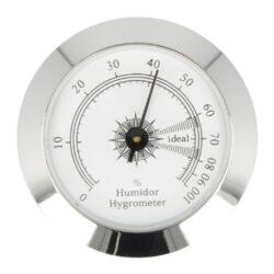 Vlhkoměr Angelo, 50mm-Standardní vlhkoměr Angelo do humidoru. Vlhkoměr je vhodný do středních nebo větších humidorů. Kulatý vlhkoměr s lesklým chromovým povrchem se uchytí vložením do otvoru v humidoru. Vnější průměr: 50 mm Vnitřní průměr pro vložení: 46 mm