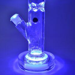 Skleněný bong s perkolací Grace Glass LED Octopus Ice green 41cm(G1508G)