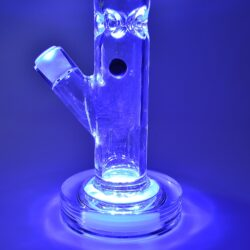 Skleněný bong s perkolací Grace Glass Crystal Series Straight LED IV Ice 42cm(G165)