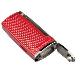 Doutníkový zapalovač Winjet Triple červený s vyštípávačem(224111)