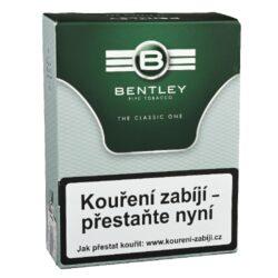 Dýmkový tabák Bentley The Classic One, 50g-Dýmkový tabák Bentley The Classic One. Tabáková směs anglického typu připravená z viržinských a orientálních tabáků, které se slisují a poté jsou upraveny jako loose cut. Jemná, ale plná tabáková směs bez příchutě. Tabák je balený v neprodyšně uzavřené folii a v papírové originální krabičce. Balení 50g.
