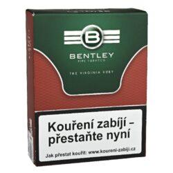 Dýmkový tabák Bentley The Virginia Ruby, 50g-Kvalitní dýmkový tabák Bentley The Virginia Ruby. Středně silná tabáková směs připravená z viržinského tabáku a černého Cavendishe příjemně ochucená bourbonskou vanilkou a toskánským divokým medem. Tabák je balený v neprodyšně uzavřené folii a v papírové originální krabičce. Balení 50g.