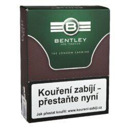 Dýmkový tabák Bentley The London Carmine, 50g-Dýmkový tabák Bentley The London Carmine. Klasická Anglická silnější směs připravená z viržinského, Orient a dark-fired tmavých Kentucky tabáků s příjemnou dávkou Latakie. Tabák je balený v neprodyšně uzavřené folii a v papírové originální krabičce. Balení 50g.