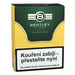 Dýmkový tabák Bentley The Royal Gold, 50g-Dýmkový tabák Bentley The Royal Gold. Středně silná tabáková směs připravená z nejlepšího viržinského tabáku s troškou Burleye a černého Cavendishe jemně ochucená medem a vanilkou. Tabák je balený v neprodyšně uzavřené folii a v papírové originální krabičce. Balení 50g.