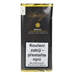 Dýmkový tabák Davidoff Brazil, 50g-Dýmkový tabák Davidoff Brazil. Jemná tabáková směs s příjemnou ovocnou příchutí je namíchána z dvojitě fermentovaného černé Cavendishe v kombinaci s plnými Brasil a vyzrálými tabáky Virginia v různém řezu, které jsou sušené na vzduchu. Výborná dýmková směs, kterou zakončuje jemná a ovocná nota. Balení pouch 50g.
