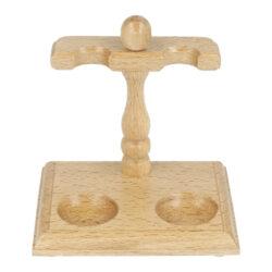 Stojánek na 2 dýmky BPK, dřevěný(99-044.2)