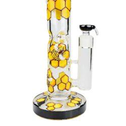 Skleněný bong s perkolací Grace Glass Beehive Series Ice, 42cm(G193)