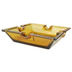 Doutníkový popelník skleněný Amber, 4D(11247)