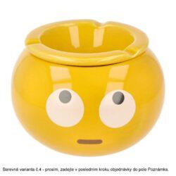 Cigaretový popelník keramický Emoticons, 6mix(27016)
