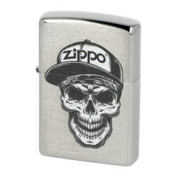 Zapalovač Zippo Skull in Cap, broušený(Z 158213)