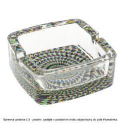 Cigaretový popelník skleněný Motiv, 6mix(37080)