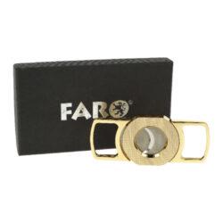 Doutníkový ořezávač Faro zlatý, 25mm(02033)