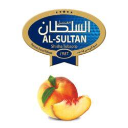 Tabák do vodní dýmky Al-Sultan Peach (70), 50g/Z-Tabák do vodní dýmky Al-Sultan Peach s příchutí broskve. Tabáky Al-Sultan vyráběné v Jordánsku jsou známé svojí šťavnatostí, skvělou vůní, chutí a bohatým dýmem. Tabák do vodní dýmky je dodávaný v papírové krabičce po 50g.