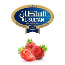 Tabák do vodní dýmky Al-Sultan Strawberry (78), 50g/Z-Tabák do vodní dýmky Al-Sultan Strawberry s příchutí jahod. Tabáky Al-Sultan vyráběné v Jordánsku jsou známé svojí šťavnatostí, skvělou vůní, chutí a bohatým dýmem. Tabák do vodní dýmky je dodávaný v papírové krabičce po 50g.