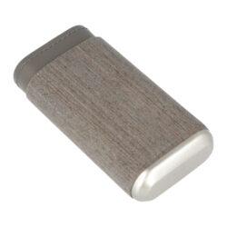 Pouzdro na 3 doutníky Angelo Veneer Wood/Leather, 140mm(813050)