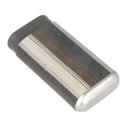Pouzdro na 3 doutníky Angelo Veneer Wood/Leather Stripes, 140mm(813060)