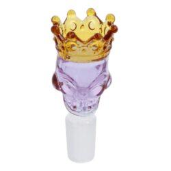 Náhradní kotlík do bongu Grace Glass Skull fialový 18,8mm(X1099PR)