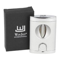 Doutníkový ořezávač Winjet stříbrný, V-cut, 21mm(311004)