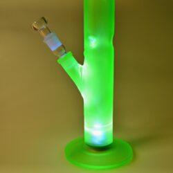 Skleněný bong Black Leaf Ice LED light Neon, 51cm, green(251815-38)