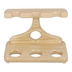 Stojánek na 3 dýmky BPK dřevěný, rovný(99-024)